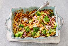 Pasta ovenschotel met broccoli en spekjes