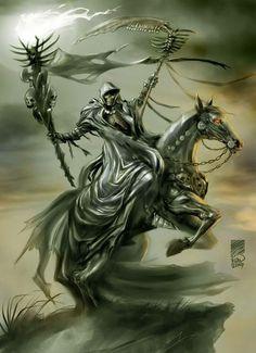 Grim Reaper Art, Don't Fear The Reaper, Apocalypse Tattoo, Reaper Tattoo, Death Tattoo, Gothic Fantasy Art, Horsemen Of The Apocalypse, Skull Pictures, Skull Artwork