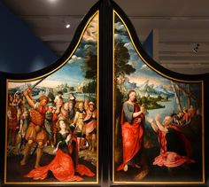 Master of Saint Nicholas Triptych - The Beheading of Saint Catherine of Alexandria  and the Miraculous Catch. The 16th century