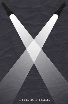MSCE Day 30 - Minimal The X-Files Poster by Bill Pyle, via Flickr