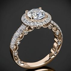 Vintage Style Engagement Rings In Rose Gold