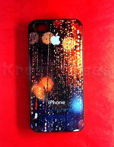 iPhone 5s case Iphone 5 Case  Rain Drop on apple logo by KrezyCase, $14.99