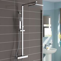 Lamia Thermostatic Wall Mount Shower Set within proportions 1000 X 1000 Bathroom Shower Set - These days you'll be able to buy superb bathroom sets where