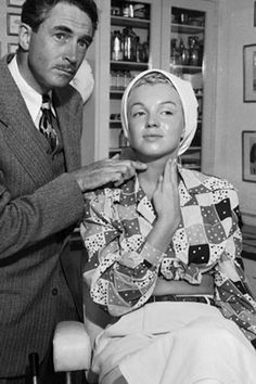 Marilyn Monroe in make-up prior to filming …. #marilynmonroe #pinup #monroe #normajeane #hollywoodicon #iconic