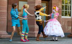 Toy Story Costumes: Ken and Barbie, Woody and Little Bo Peep