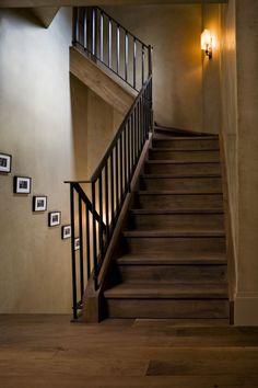 Glenn Gissler Design - contemporary - Staircase - New York - Glenn Gissler Design Rustic Stairs, Staircase Railings, Wooden Stairs, Staircases, Steep Staircase, Painted Stairs, Wrought Iron Stairs, Iron Stair Railing, Black Railing