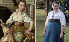A few years ago, this paintingstarted making the rounds of online costuming circles. It's part of a series of six paintings in the Koninklijk Museum Voor Schone Kunsten in Antwerp of a Peasant Wedding by Marten Van Cleve, sadly only on Flickr. This is the last in the sequence, and this is the bride. Why …