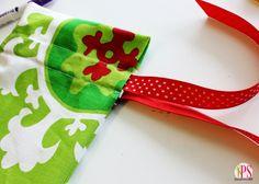 Drawstring Gift Bags good tutorial for easy casing