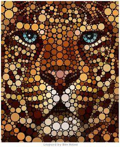 Lion - Circular Art