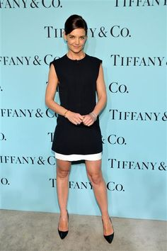 Doesn't Katie Holmes look elegant and sweet in an LBD? See more style on Wonderwall: http://on-msn.com/1ehRSFf