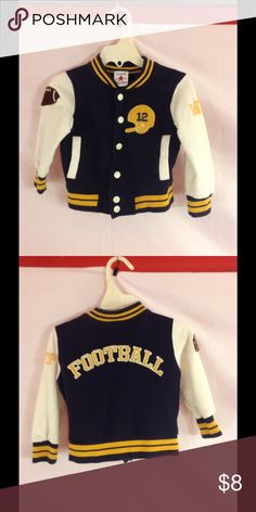 Boys Football Jacket This is a pre-owned little boys football jacket and is in excellent condition. classic clothing Jackets & Coats