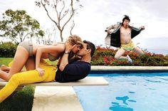Ken Jeong Photobombs Kate Upton in GQs Slim Corduroy Pants Fashion Shoot • Highsnobiety