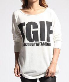 The Mogan $18.99 MOGAN Graphic Print Loose-fit DOLMAN Long Sleeve TOP Chic Draped Knit Tee Shirts