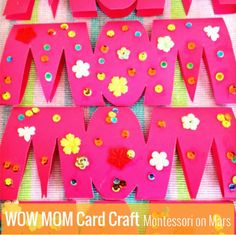 Wow Mom Card Craft