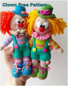 In this article we will share the amigurumi clown crochet free english pattern. : In this article we will share the amigurumi clown crochet free english pattern. Amigurumi related to everything you can not find and share with you. Crochet Amigurumi Free Patterns, Free Crochet, Crochet Gratis, Cute Turtles, Clowns, Amigurumi Doll, Crochet Projects, Teddy Bear, Internet