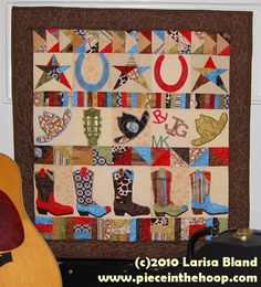 in the hoop cowboy quilt    Rows of Country  $39.99