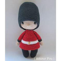 Mini Jack the Royal Guard Crochet Pattern by Amour Fou