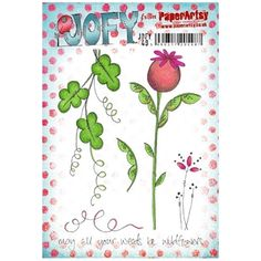 Paper Artsy JOFY 49 May All Your Weeds Rubber Cling Stamp JOFY49