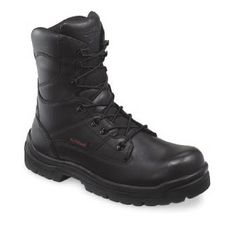 For work and everyday wear, I wear a pair of Red Wing steel toe boots. Never know if I'm going to be in crappy locations or have to physically kick some ass. Yes, I even wear these with business pants (along with my metal loop belt and chains).