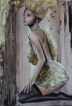 "Saatchi Art Artist Donatella Marraoni; Painting, ""Because I'm worth it"" #art"