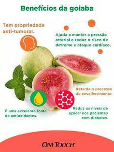 Goiaba! Fitness Nutrition, Health And Nutrition, Smoothies Detox, Diabetic Recipes, Healthy Recipes, Healthy Life, Healthy Eating, Menu Dieta, Vegetarian Options