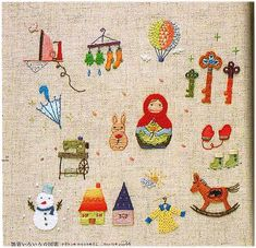 once I get more practice I will take on some of these adorable Japanese embroidery designs!