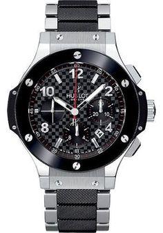 Hublot - Big Bang 44mm Stainless Steel And Ceramic Watch 301.SB.131.SB