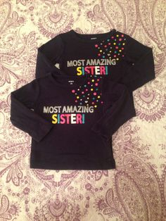 Carter's 2t. Long sleeve navy tee shirt. Most Amazing Sister $2