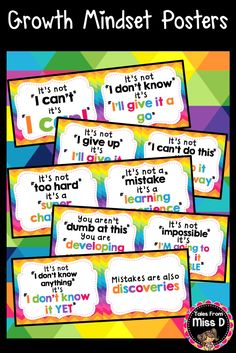 Encourage a Growth Mindset in your classroom with these bright and colourful…