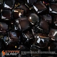 """Starfire Glass® 5-Pound Fire Glass """"Fire-Cubes"""" 1-Inch Copper Reflective"""
