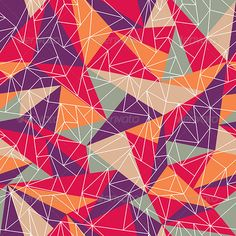Abstract Geometric Colorful Pattern — Vector EPS #retro #colorful • Available here → https://graphicriver.net/item/abstract-geometric-colorful-pattern/5178398?ref=pxcr