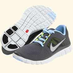 aa9d0aadc609 Nike Free Run+ 3 Dark Grey   Prism Blue 510643-004 (Women s) Nike