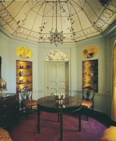 The Peak of Chic®: the birdcage breakfast room painted by Athos Menaboni at the Goodrum house, Atlanta