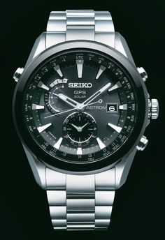 Seiko Astron, GPS Solar Watch, With stainless steel band and white accents, SAST003  www.SeikoUSA.com