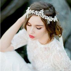 Sunfish Hochzeit Bankett Party Braut Hochzeit Kleider heiraten Perlen-Blumen Stirnband: Amazon.de: Schmuck