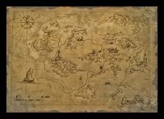 Bilbo's Map of Eriador by amegusa.deviantart.com on @deviantART
