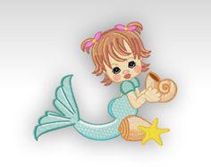 Mermaid Machine Embroidery Design Precious by CeciliasEmbroidery