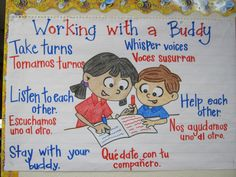 Dual Language: Expectations for Working with a Buddy Chart
