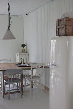 lovely kitchen, white and rustic