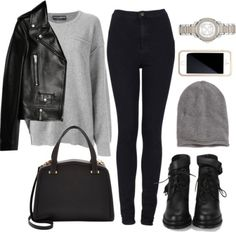 Untitled #1178 by beatifuletopshop featuring a leather jacket ❤...