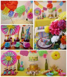 Colorful Fiesta {Mexican themed birthday party} Full of Fun Ideas via Kara's Party Ideas Kara's Party Ideas | Cake, decor, cupcakes, games! Cinco de mayo!