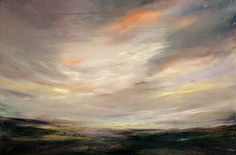 'Shouting I love you at the sky', Oil on Canvas, 24 x 36 inches Contemporary Landscape, Contemporary Paintings, Landscape Art, Landscape Paintings, Oil On Canvas, Coast, Sky, Fine Art, Brown