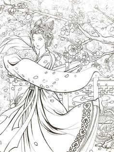 Flower rhyme vol1 Chinese antiquity coloring book