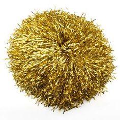 GOGO Gold Glitter Cheerleading Pom Poms, dozen $9.99