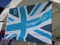 The London 2012 flag was on display at the 'Walk to London' event in San Francisco, which marked 100 days to go until the 2012 London Olympic Games.