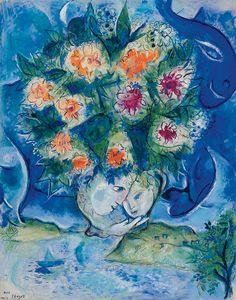 [ C ] Marc Chagall - Animal dans les Fleurs (1952)