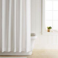 Signature Linen Shower Curtain In White 72 Square 119 Retial