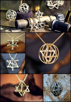 Merkaba Jewelry for Healing and Self Balance and Unity. Made by the Artist David Weitzman. http://www.ka-gold-jewelry.com/p-categories/merkaba.php