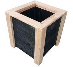 Plantenbak De Stee KUBUS PLUS douglashoutmateriaal: 28mm geschaafd douglas-hout, inclusief worteldoek afwerkrand in verstek gezaagd