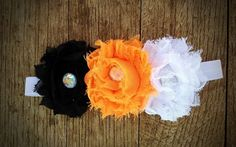 Oklahoma State Cowboys shabby chic flower by ClairebowBaby on Etsy, $7.00